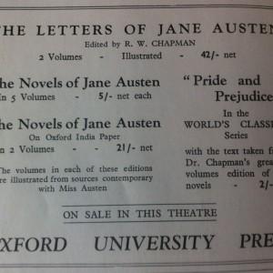 Las obras de Jane, de venta en el teatro